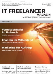 IT Freelancer Magazin Nr. 2/2004