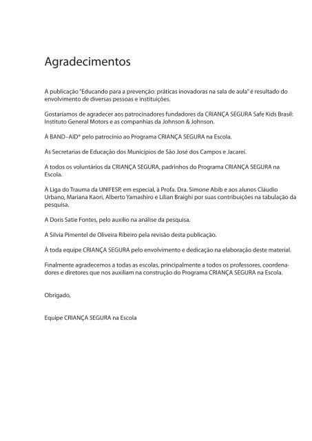 PDF 7.6 Mb - Criança Segura