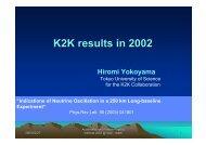 K2K experiment in 2002 - KEK