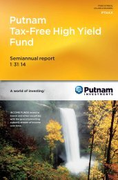 Tax-Free High Yield Fund Semi-Annual Report - Putnam Investments