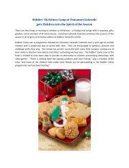 Kiddies' Christmas Camp at Cinnamon Lakeside gets Children into ...