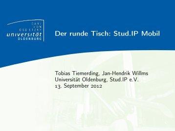 Der runde Tisch: Stud.IP Mobil