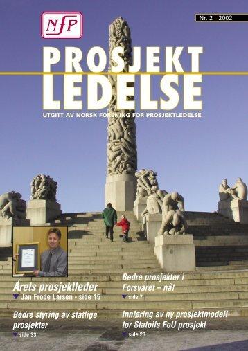 Årets prosjektleder - Norsk senter for prosjektledelse - NTNU