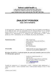 ZNALECKÝ POSUDEK číslo: 5373-1519/2012 - e-aukce