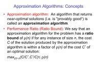 Approximation Algorithms: Concepts - UCSD VLSI CAD Laboratory