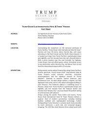 TRUMP INTERNATIONAL HOTEL & TOWER - World Travel Market