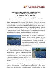 Concessionaria di auto e moto sceglie On Energy e Canadian Solar ...