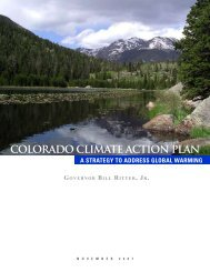 colorado climate action plan - Center for the New Energy Economy ...