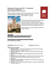 Residential Programme 2011 - The Devon School of English