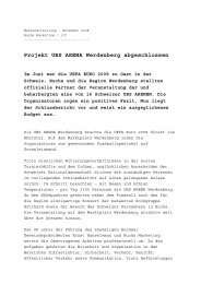 Abschluss UBS ARENA Werdenberg - Buchs Marketing
