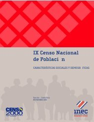 IX Censo Nacional de Población - INEC Instituto Nacional de ...