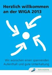 Wir treffen uns an der WIGA - Buchs Marketing