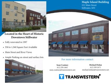 Office/Retail Space – For Lease - Minneapolis - Transwestern