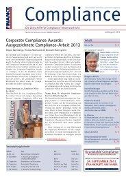 (PDF ) | Ausgabe Juli/August 2013 - Compliance