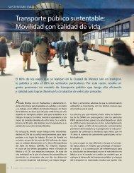 Transporte público sustentable: Movilidad con ... - Círculo Verde