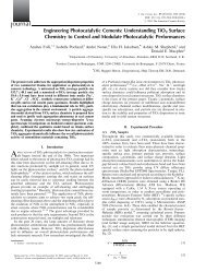 Engineering Photocatalytic Cements - Danish Technological Institute
