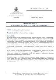 CDC ETAT ENVIRONNEMENT def - Direction de l'environnement ...