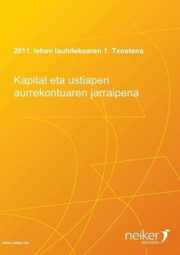 informe seguimiento presupuesto 1tri EUKARAZ - Neiker