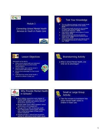 Module 3 - School Mental Health