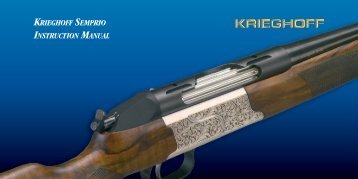 KRIEGHOFF SEMPRIO INSTRUCTION MANUAL