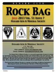 July 2013 Rock Bag Email Copy - Oxnard Gem & Mineral Society