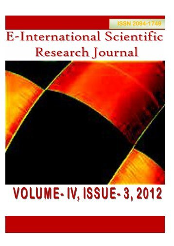 download the full article here - E-International Scientific Research ...