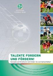 TALENTE FORDERN UND FÖRDERN! - Talente-DFB