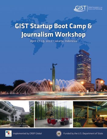GIST Startup Boot Camp & Journalism Workshop - GIST Global ...