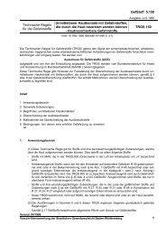 TRGS 150 - Staatliche Gewerbeaufsicht Baden-Württemberg
