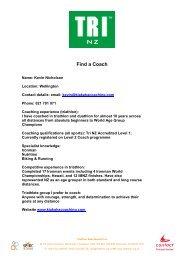 Kevin Nicholson Find a Coach - Triathlon New Zealand