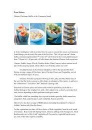 Press Release - Cinnamon Hotels & Resorts