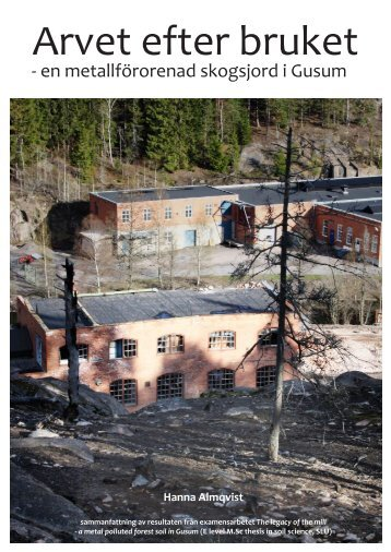 Hanna Almqvist Arvet efter bruket svensk sammanfattning, 3.26 MB