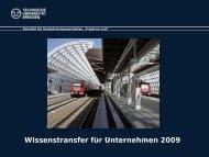 Wissenstransfer für Unternehmen 2009 - IGEWeM