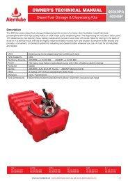 owner's technical manual owner's technical manual - Alemlube
