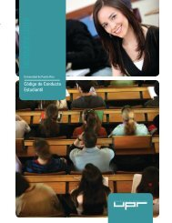 Código de Conducta Estudiantil - Universidad de Puerto Rico en ...