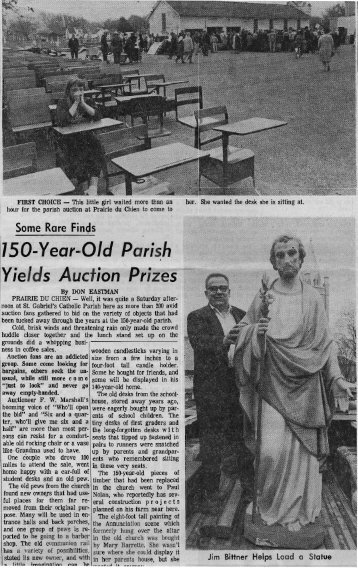 Church auction 197? - Prairie Catholic School