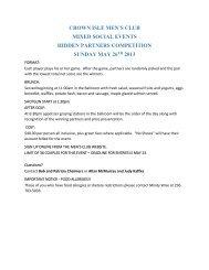 Crown Isle Men's Club Events