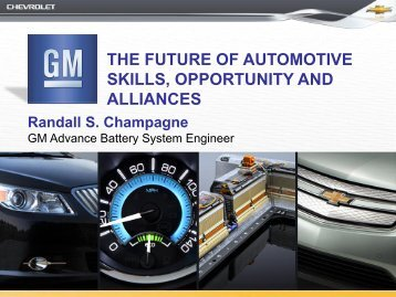 the future of automotive skills, opportunity and alliances