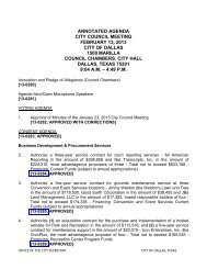 ANNOTATED AGENDA CITY COUNCIL MEETING ... - City of Dallas
