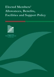 Elected Members' Allowances, Benefits, Facilities and Support Policy