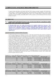 e. risultati, analisi e miglioramento - Università degli Studi di Firenze