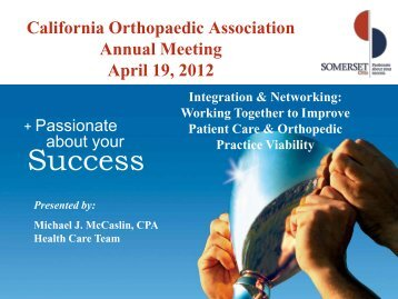 Mike McCaslin—Somerset CPA - California Orthopaedic Association