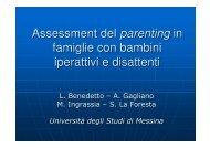 Assessment del parenting in famiglie con bambini iperattivi e ... - Aidai