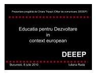 Educatia pentru Dezvoltare in in context european - FOND