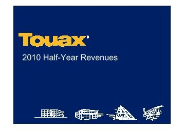 Financial analyst meeting on 2nd September 2010, half year ... - Touax
