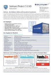 Solvium Protect 5 USD Faktenblatt - Schmidtner GmbH