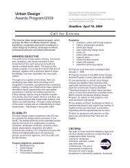 Urban Design Awards Program/2009 - Plataforma Arquitectura