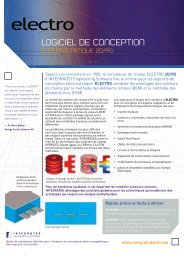 Fiche du Produit Electro - INTEGRATED Engineering Software