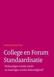 College en Forum Standaardisatie