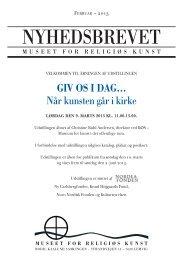 Nyhedsbrev Feb 2013 - Museet for Religiøs Kunst